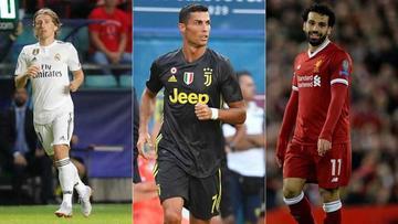 Modric, Ronaldo y Salah van por el premio a mejor jugador