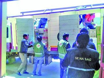 Senasag decomisa productos que provienen de Argentina