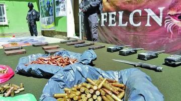 La Felcn interviene campamento de narcotraficantes