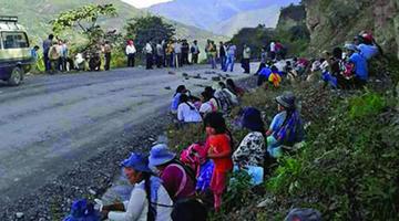 Cocaleros bloquean vía a Yungas y el Gobierno minimiza la medida