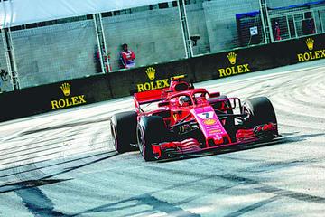 Raikkonen lidera pruebas en Singapur