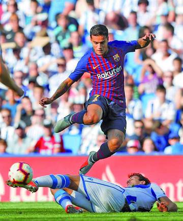 """Barcelona remonta y acaba con el maleficio de """"Anoeta"""""""