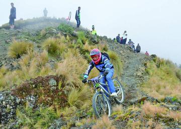 Chino y Mamani mandan en el Descenso del Edén de ciclismo