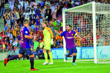 Barcelona golea a PSV Eindhoven
