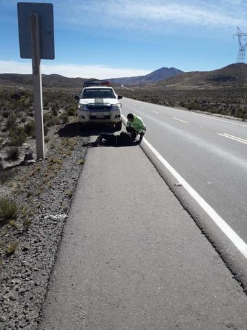 Hallan a una persona malherida en plena carretera