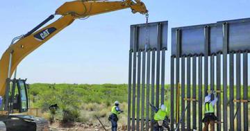 Comienzan a sustituir malla por muro fronterizo en EE.UU.