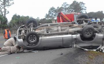 Accidentes dejan, al menos, tres muertos y siete heridos