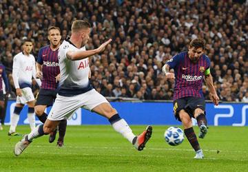Barza golea a Tottenham en la Champions