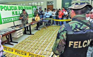 Decomisan 381 kilos de cocaína y marihuana en lo que va de esta gestión