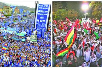 La democracia lleva a las calles el debate sobre el futuro de Bolivia