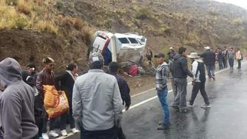 La caída de granizo ocasiona un accidente