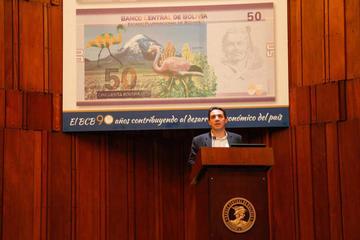 El BCB pone en circulación el nuevo billete de 50 bolivianos