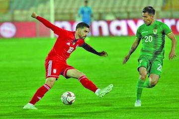 Irán derrota en amistoso a Bolivia