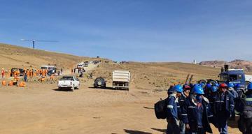 Acuerdo frena conflicto en la empresa que está edificando la cementera