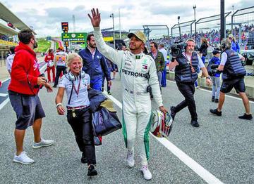 """Hamilton logra la """"pole"""" en el GP de Estados Unidos"""