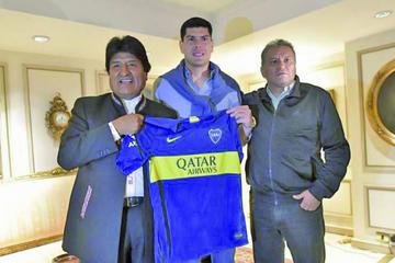 Carlos Lampe visita a Morales en Argentina