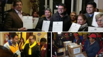 Siete partidos entregan libros de militantes rumbo a las primarias