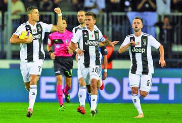 Juventus vence 2-1 a Empoli