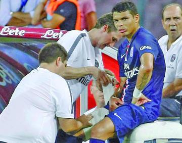 Thiago Silva será baja en PSG para la visita a Marsella