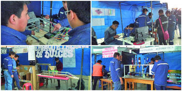 Exponen trabajos en feria de Ingeniería Electrónica