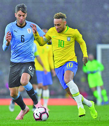 "Brasil gana a Uruguay en el ""Emirates Stadium"""
