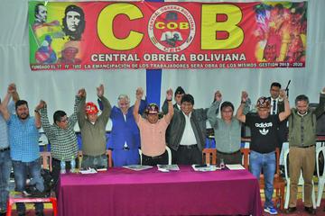 Se oficializa el binomio Evo y Álvaro con el apoyo de la COB