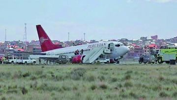 DGAC: salen ilesas 127 personas de un accidente de avión en El Alto
