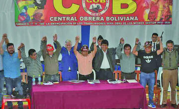 """Central Obrera Boliviana afirma que siempre estuvo al lado del """"socialismo"""""""