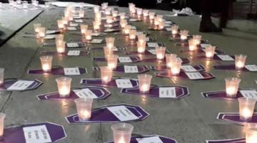 Caminata rinde tributo a mujeres víctimas de feminicidio y agresiones