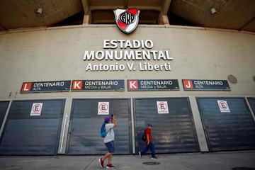 El Monumental se engalana para el Superclásico