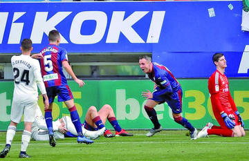 Eibar golea a 3-0 Real Madrid