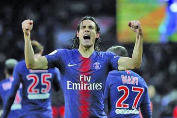 Cavani anota el gol de la victoria para PSG