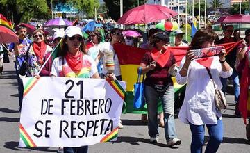 Las plataformas ciudadanas van hacia La Paz en defensa del 21 F