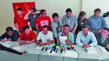 Cívicos dan 72 horas al TSE para anular la habilitación de Morales