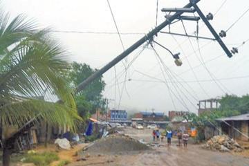 Tormenta causa destrozos en Mayaya del departamento de La Paz
