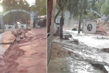 Desborde del río por lluvias genera tensión en Tupiza