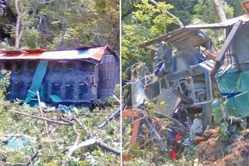 Accidente de un bus en Los Yungas deja cinco muertos y 20 heridos