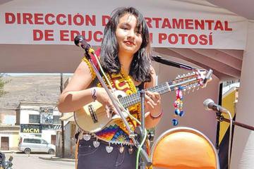 Potosina  ostenta título de ñusta de la canción