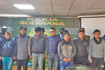 Detienen a 28 antisociales que operaban en La Paz