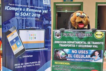 Controles del SOAT empezarán desde el primero de enero