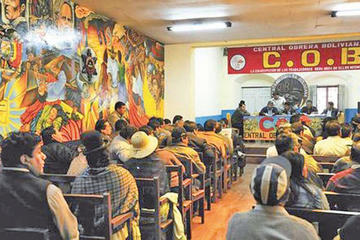 Segundo aguinaldo: COB convoca a un ampliado de emergencia