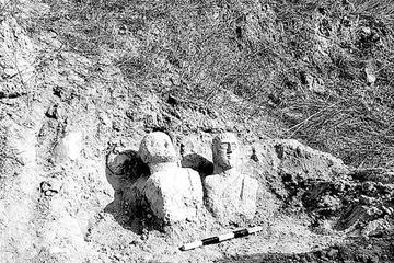 Descubren en Israel dos bustos funerarios romanos