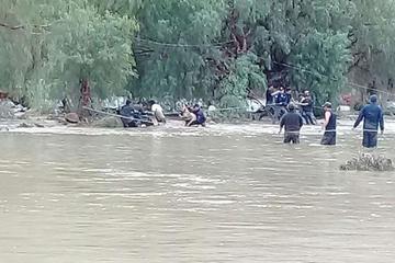 Desborde de ríos afecta los  cultivos de maíz en Tupiza
