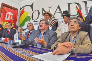 El Conade exige renuncia de la presidenta y 5 vocales del TSE