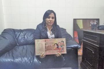 Presentan en Potosí nuevo billete de 100 bolivianos