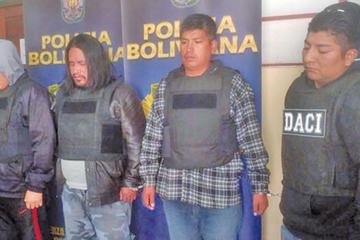 """La Paz: Fuerza Anticrimen desbarata banda criminal """"Los Capos de la 9"""""""