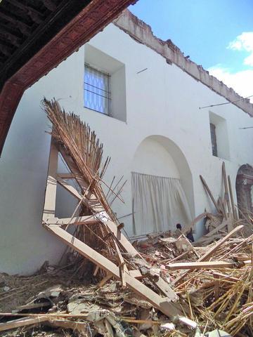 Reposición del techo de San Agustín avanza