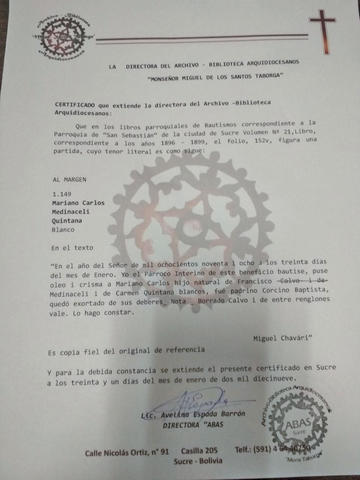 Partida no confirma el origen de Medinaceli
