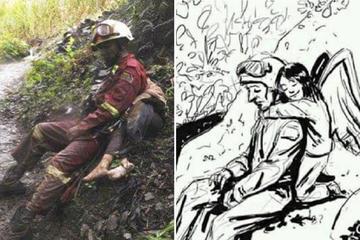Conmovedora ilustración refleja el sacrificio de los rescatistas en Caranavi