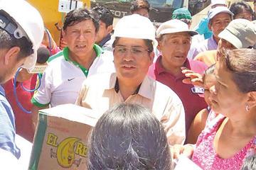 Gobernador Félix Patzi pide disculpas a Caranavi por sus declaraciones